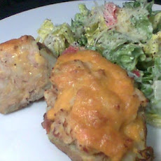 Baked Potatoes With Tuna and Cheese