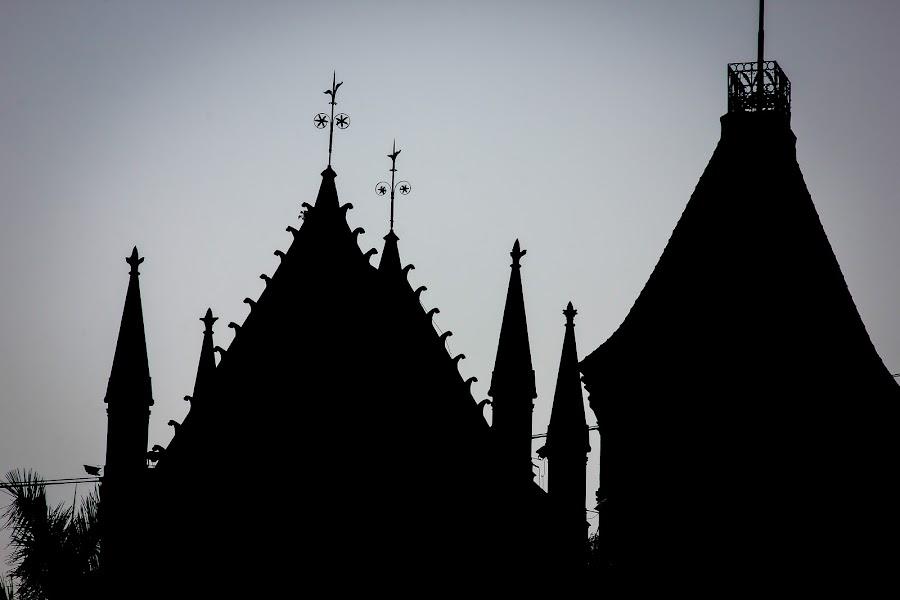 Church by Subodh Kesarkar - Black & White Buildings & Architecture ( church, black and white )