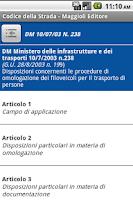 Screenshot of Codice della Strada