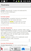 Screenshot of Alla Svenska Ordbok