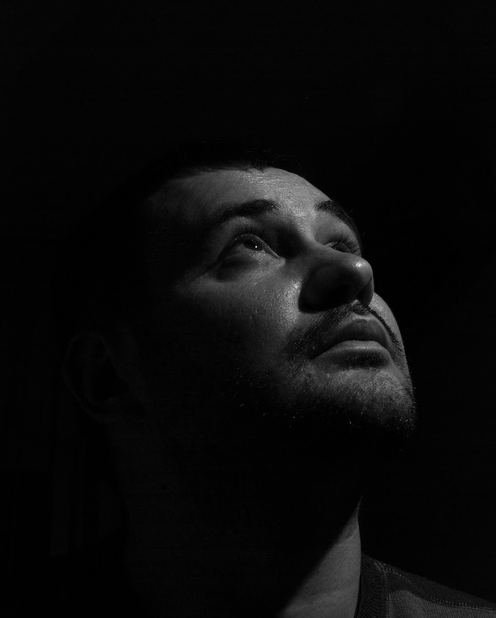 Pray by Andreea Alexe - People Portraits of Men ( indoor, strobist, black and white, man, portrait,  )