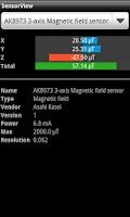 Screenshot of SensorView