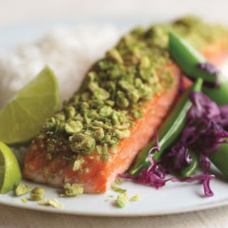 Crunchy Wasabi Salmon with Lime