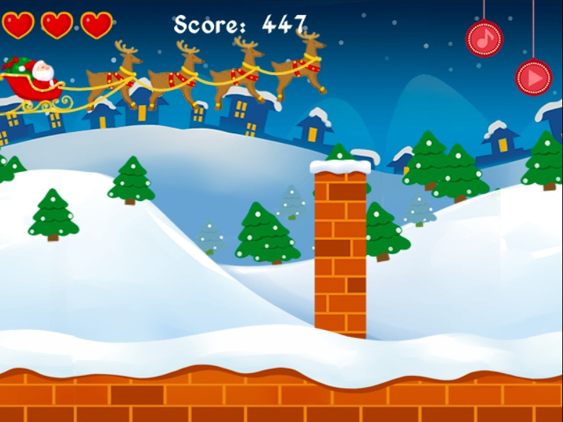 Endless runner - Santa Chimney Challenge