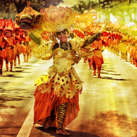 In the heat  by Ferdinand Ludo - People Musicians & Entertainers ( imus street, sinulog queen and her party, sinulog 2015 )