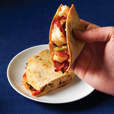 Shrimp & Goat-Cheese Quesadillas
