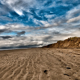 South Wales Beach by Loizos Christodoulides - Landscapes Beaches ( sand, sky, wales, south wales beach, beach, south wales )