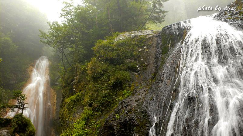 本沢の滝とクロイ沢の滝1