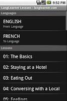 Screenshot of LangLearner Lessons Free