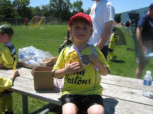 Liam soccer medal