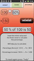 Screenshot of Percentage VAT TAX Calculator