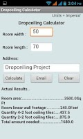 Screenshot of DropCeiling Calculator