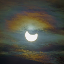 Partial Solar Eclipse by Justin Giffin - News & Events Weather & Storms ( colorado, weather, solar eclipse, sun )