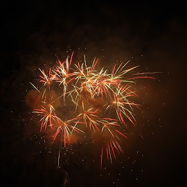 Fireworks by Jeff Duncan - Abstract Fire & Fireworks ( fourth, light painting, fourth of july, fireworks, light )