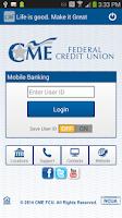 Screenshot of CME FCU Mobile Banking