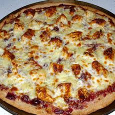 Brie Cranberry and Chicken Pizza