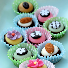 Petits fours by Heather Aplin - Food & Drink Candy & Dessert ( pastel, blue, green, fours, chcocolate, pink, petits )