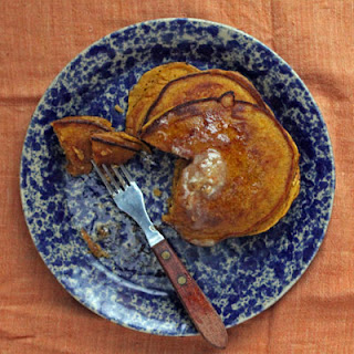 Butternut Squash Pancakes with Maple Butter