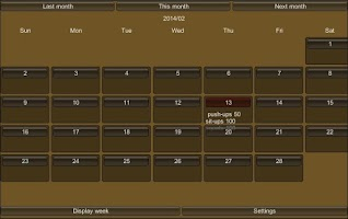 Screenshot of Easy! Weight Training Log