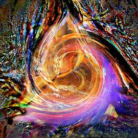 Symphony of Color by Julia Harwood - Digital Art Abstract ( colour, digital art, art, abstrract, cave, photography )