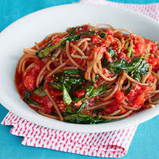 Farro Spaghetti with Buttery Tomato Sauce & Farm Spinach
