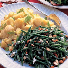 Haricots Verts and Goat Cheese Salad with Almonds