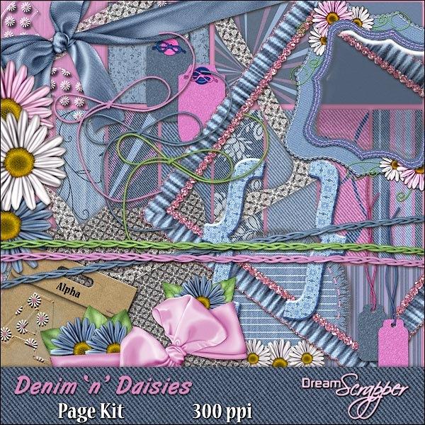 Denim 'n' Daisies Page Kit