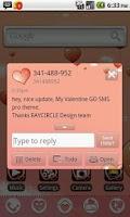 Screenshot of My Valentine GO SMS Theme
