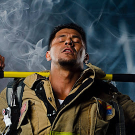 Firefighter Photo shoot by Steve Forbes - People Portraits of Men