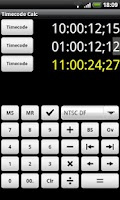 Screenshot of Timecode Calculator