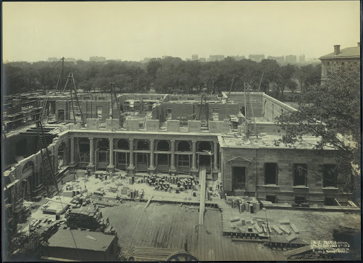 Construction continued through the summer of 1913.