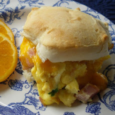 Egg and Ham Biscuits
