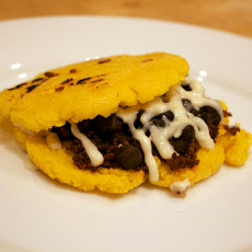 Arepa Sandwiches with Chorizo and Black Beans
