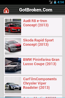 Screenshot of Tuning & Concept Car News