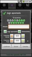 Screenshot of Loterias Mobile Lotofacil