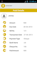 Screenshot of Debit and Credit Reminder