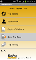Screenshot of TripPak MOBILE
