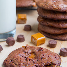 Fudgy Rolo Brownie Cookies