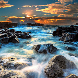 by Surya Fajri - Landscapes Sunsets & Sunrises ( canon, kiama, winter, cathedralrocks, australia, markiii, nsw )