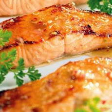 Salmon with Roasted Garlic