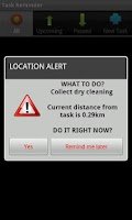 Screenshot of Location Based Task Reminder