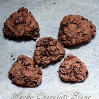 Vegan Mocha Chocolate Scone