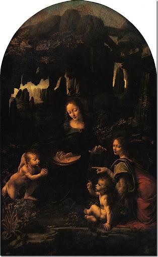 Leonardo di ser Piero DA VINCI - La Vierge aux rochers