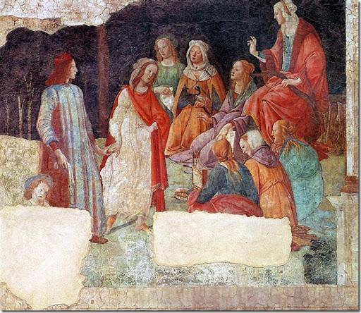 Alessandro FILIPEPI dit BOTTICELLI - Un jeune homme présenté par Vénus aux sept Arts libéraux