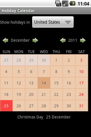【免費書籍App】Holiday Calendar-APP點子
