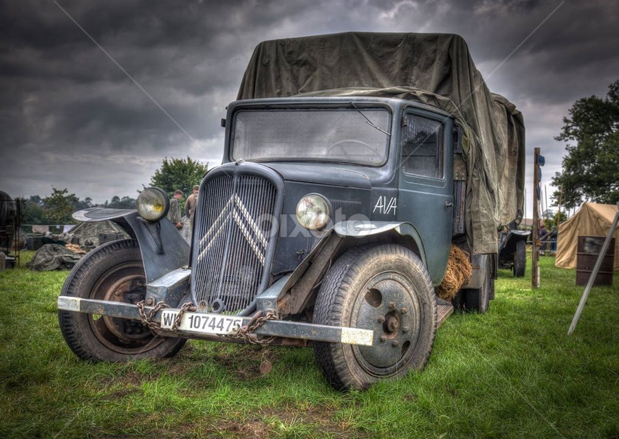WW2 lorry by John Walton - Transportation Automobiles ( ww2, heritagefocus, french, lorry )
