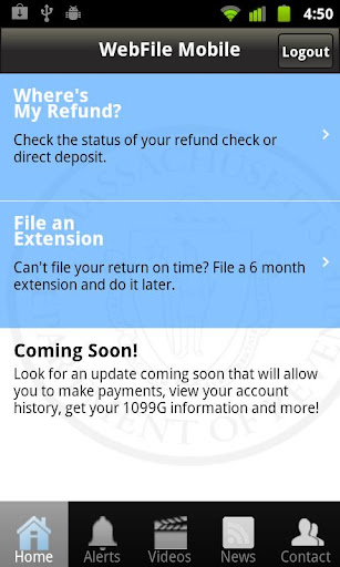 Massachusetts WebFile Mobile
