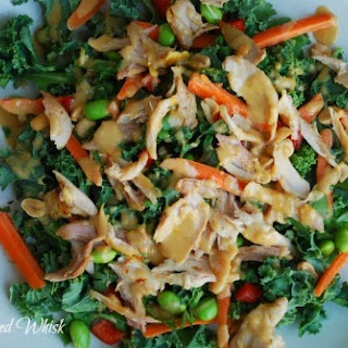 Thai Kale Salad with Chicken and Peanut Dressing