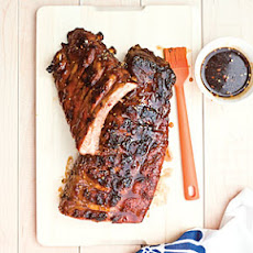 Grilled Baby Back Ribs with Sticky Brown Sugar Glaze