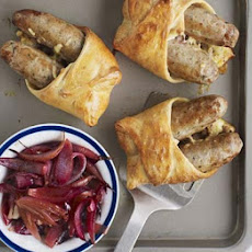 Hotdog Pasties With Sticky Onions